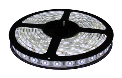 LED lentes ar baltu gaismu