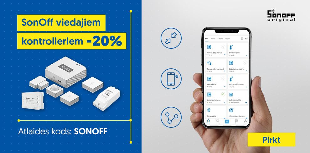 SonOff viedajiem kontrolieriem -20%