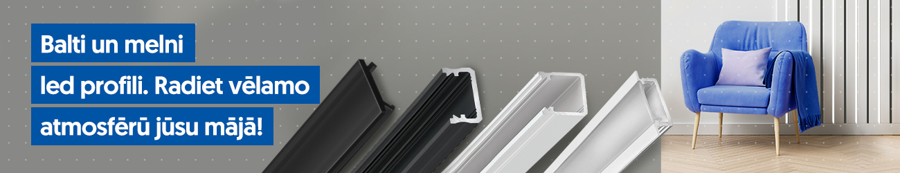 black and white LED profiles